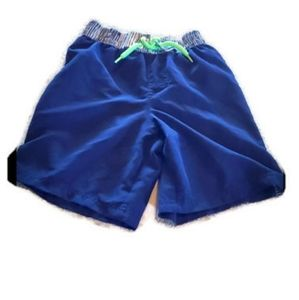 Op boys blue white swim shorts size m (8)